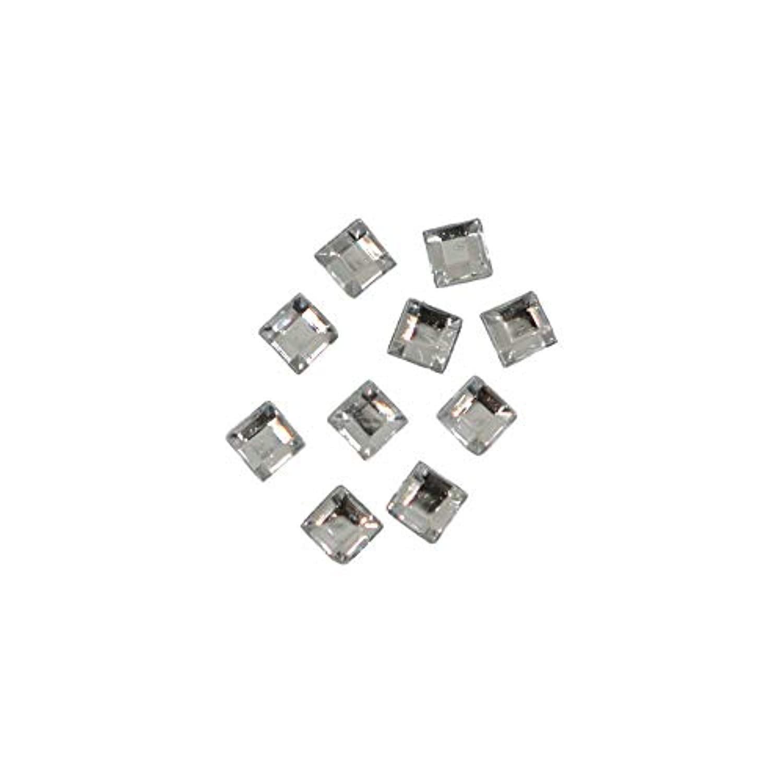 かろうじてセージきつくスクエアストーン 30粒 / 色々使える四角いアクリルストーン (クリスタル2.5mm)