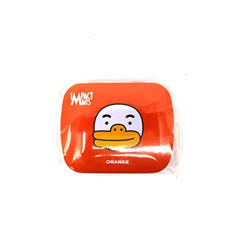 インパクトミント X カカオフレンズ 無砂糖キャンディ IMPACT MINTS X KAKAO FRIENDS SUGAR FREE CANDY [並行輸入品] (オレンジ)