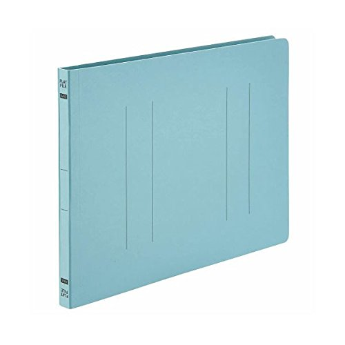 (業務用10セット)フラットファイルE A4ヨコ 150枚収容 背幅18mm ブルー 1パック(10冊) 【×10セット】