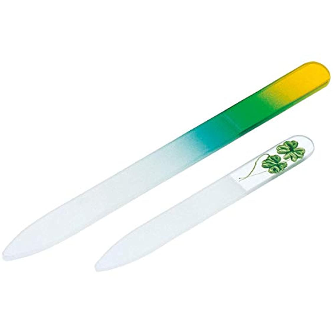 サーカス通常放置ガラス製爪やすり 大小2個セット 水洗い可 子ども 携帯用 つめやすり