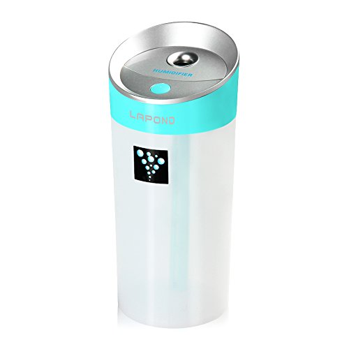 LAPOND USB 加湿器 アロマ 卓上 車載 アロマディフューザー アロマ加湿器 空気浄化 ミニ加湿器 空気清浄器 卓上加湿器(ブルー)