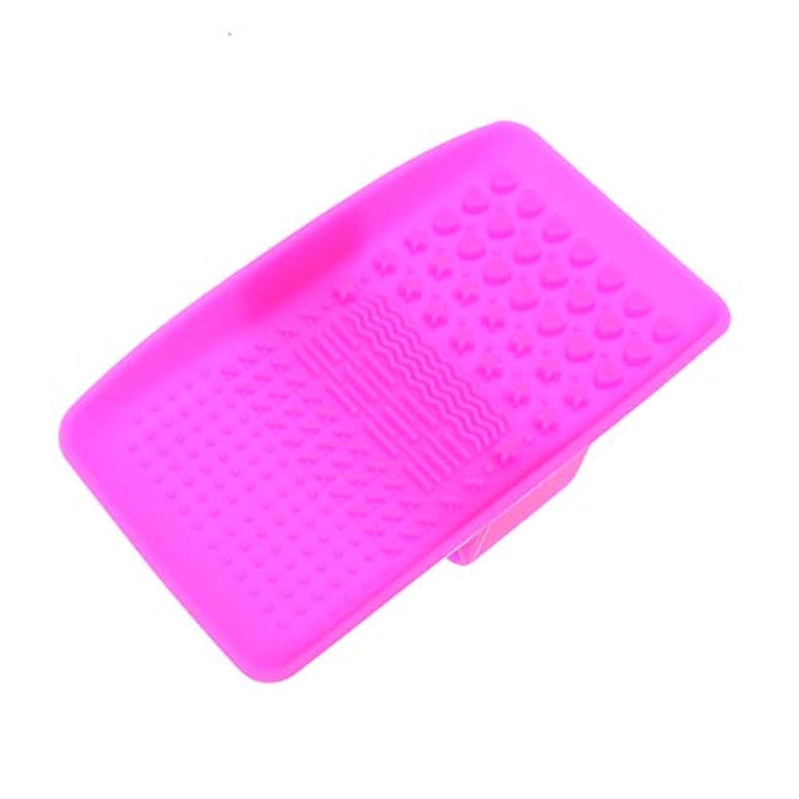 Beaupretty 吸引ブラシが付いているシリコーンのブラシのクリーニングのマットの携帯用化粧品のブラシの洗剤