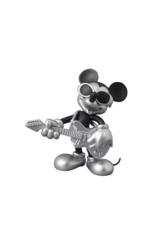 UDF ROEN collection MICKEY MOUSE (GRUNGE ROCK Ver.) BLACK &SILVER(ノンスケール PVC製塗装済み完成品)