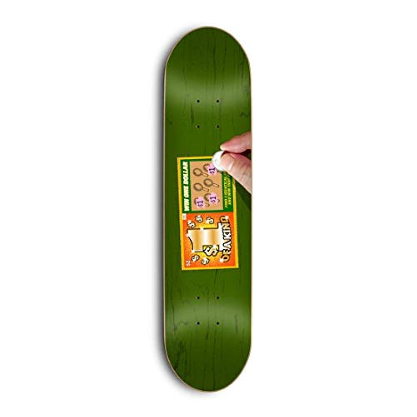 誤解を招く矩形キャンベラSkate Mental スケートボードデッキ Kleppan Scratcher 8.375インチ