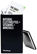 The Daily by Vitadrop, Natural Electrolytes, Vitamins and Minerals Sachets, Perfect for Rehydration (30 Pack)