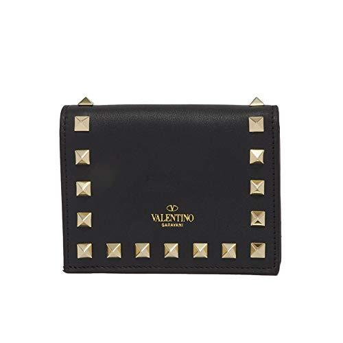(ヴァレンティノ) VALENTINO GARAVANI 折り財布 ROCKSTUD WALLET ロックスタッズ ウォレット QW0P0P39BOL レディース NERO 0NO [並行輸入品]