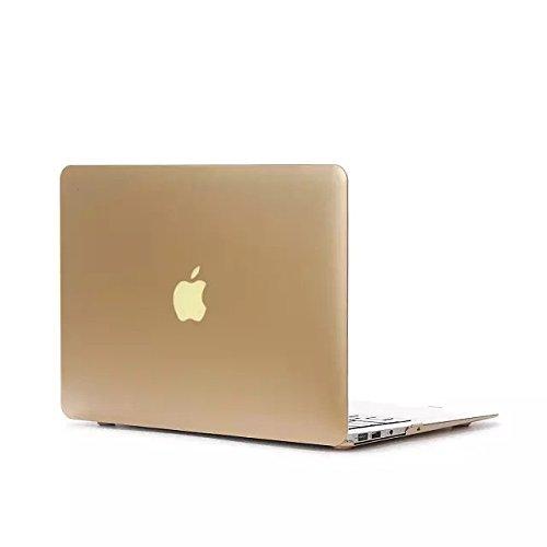 【Gearap】MacBook Air 13.3インチ用 スナップ式 ハードシェルケース カバーMacBook Air 13.3インチケース(対応モデル: A1369/A1466) (ゴールド) [並行輸入品]