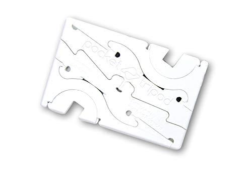 ピタゴラスタンド PocketTripod カード型 スマホ スタンド (7mm, ホワイト)