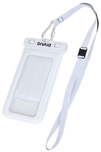 防水ケース スマホ DIVAID 水に浮く iPhone7 iPhone6s 5.8インチまで対応 IP68 / ホワイト