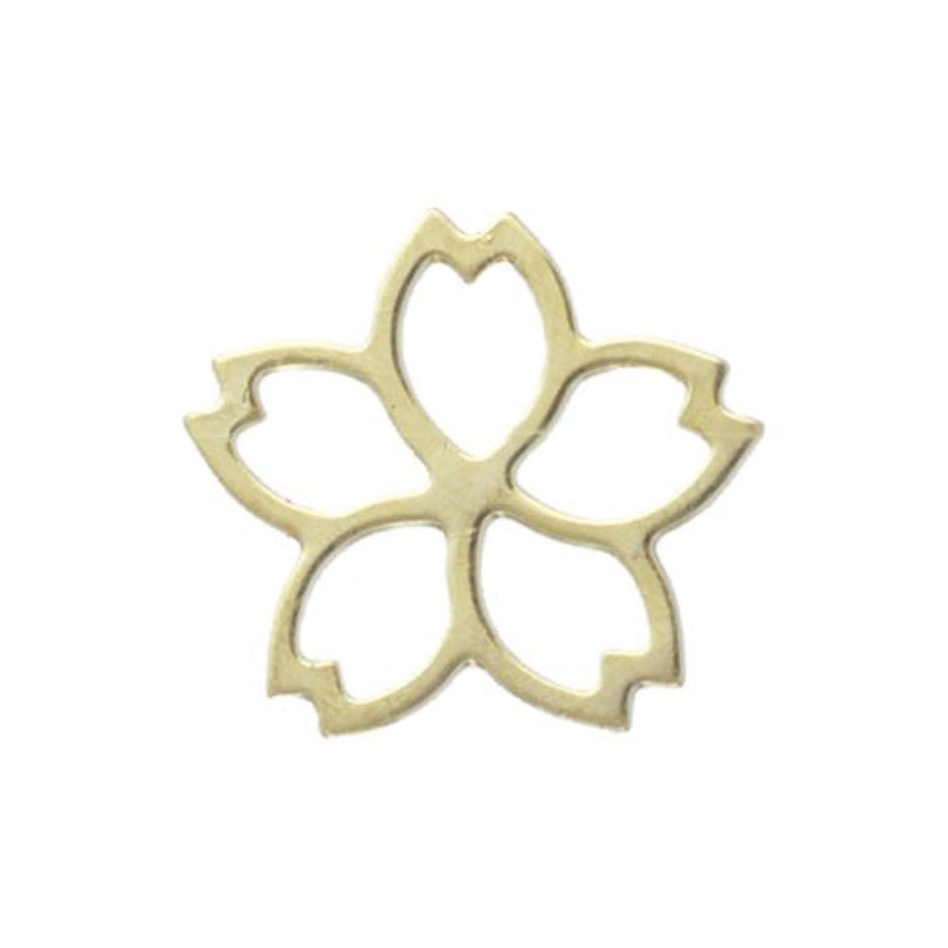 期限どんよりしたケーキリトルプリティー ネイルアートパーツ サクラ SS2 ゴールド 10個