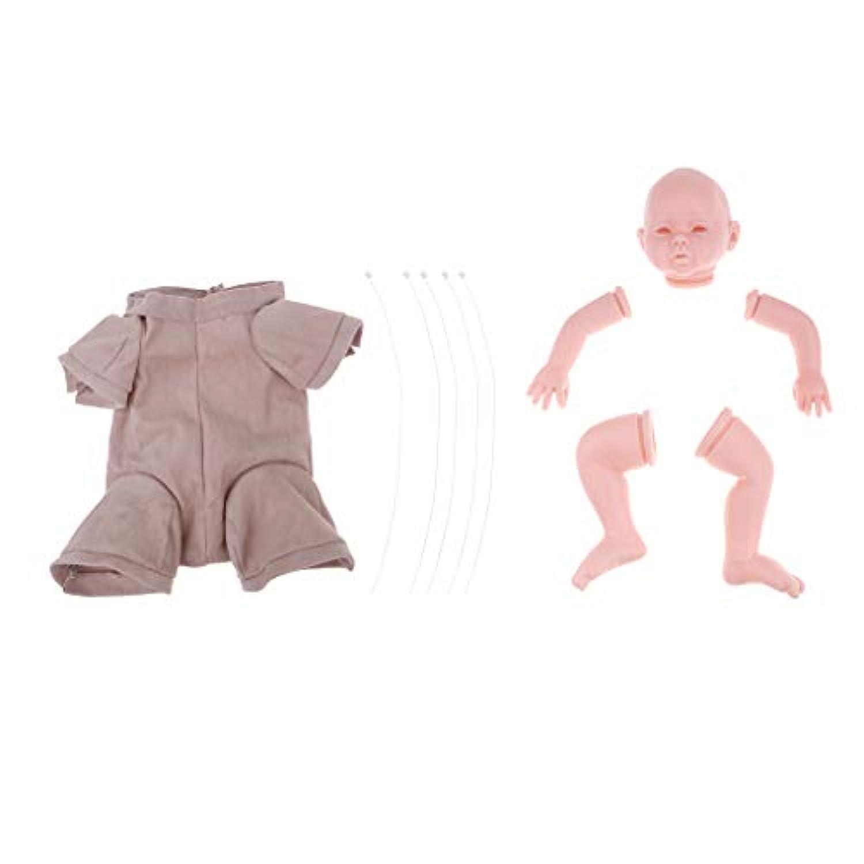 perfk クロスボディ 3/4手 ヘッド レッグ 20インチリボーンドール 赤ちゃん人形のため