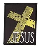 """Tm Bishop - Rough Stone Cross Gold Premium Quality Patch 2.75"""" x 3.5"""" Embroidered NEW"""