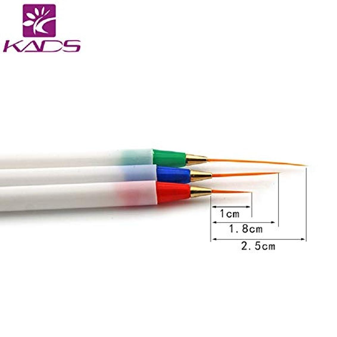提唱する煙突粘性のKADS 3本/セット 極細ネイルアートブラシ 描画筆 ネイル筆セット面相筆