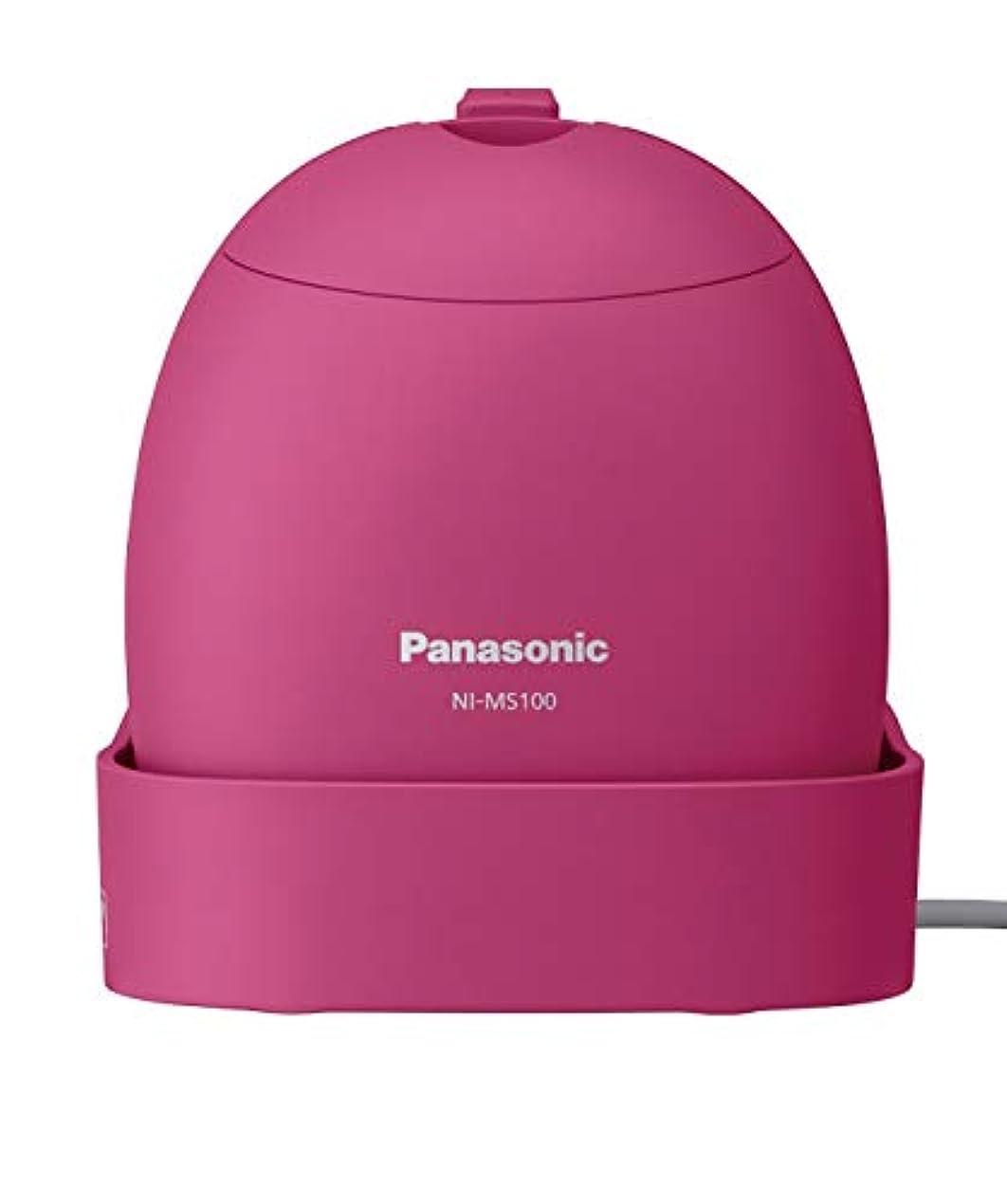 ずらすマグ降ろすパナソニック 衣類スチーマー モバイル 軽量コンパクトモデル ビビッドピンク NI-MS100-VP