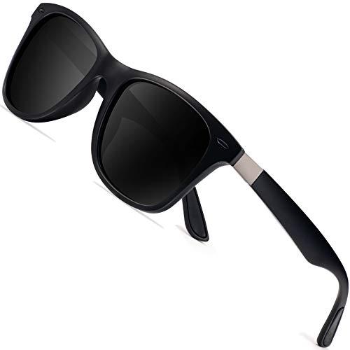 ウェリントン偏光メンズサングラス UVカットレディースサングラス UV400加工 男女共用 ユニセックス(BK-...