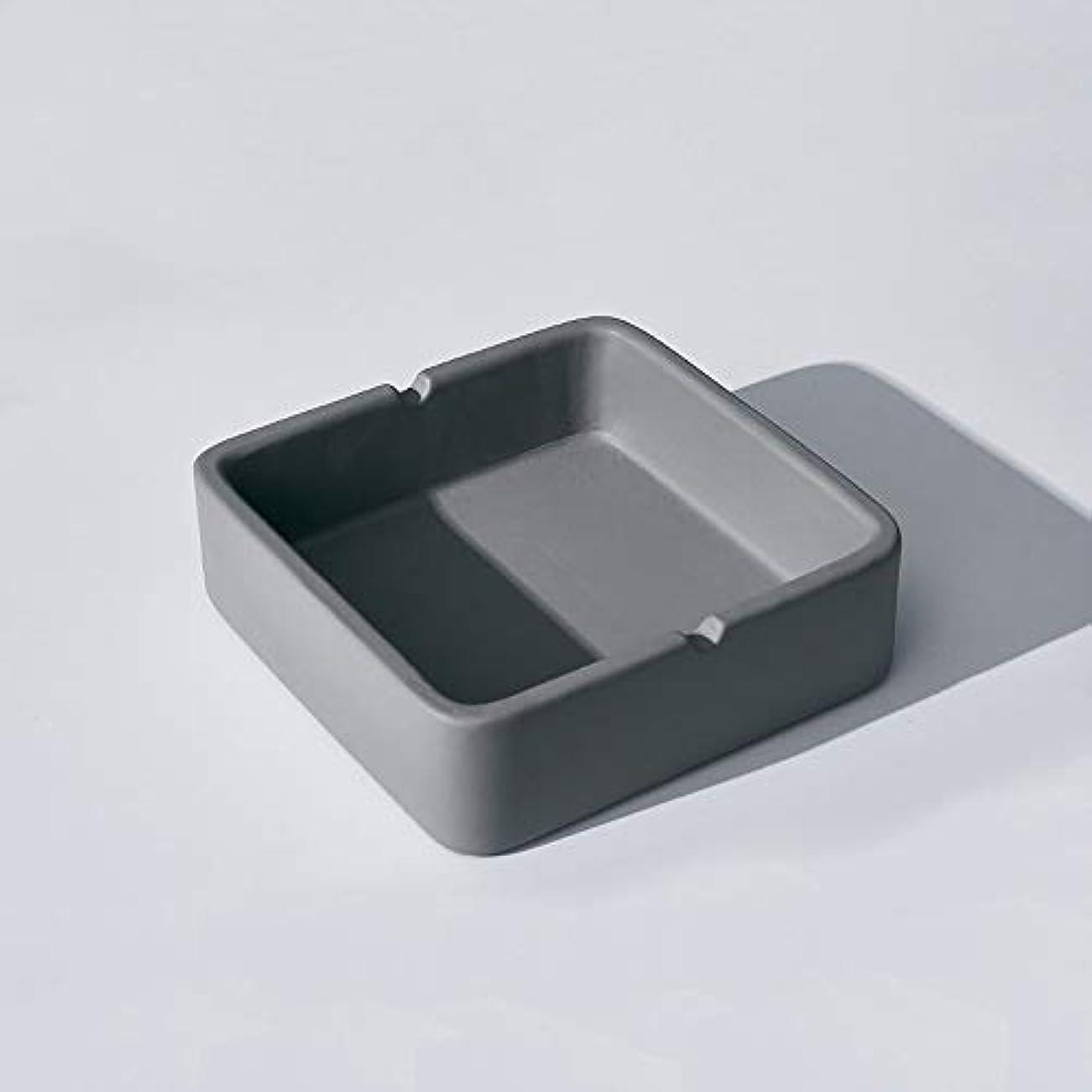幻影懐疑論留め金正方形の灰皿、繊細なコンクリートの質感の灰皿、多人数使用シーンに適したパーソナライズされた屋外の灰皿の装飾 (Size : S)