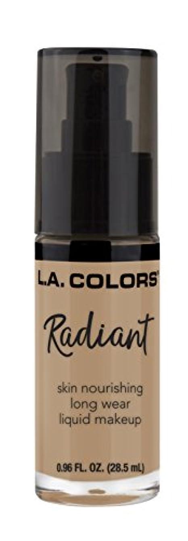 オッズ苦難透明にL.A. COLORS Radiant Liquid Makeup - Medium Beige (並行輸入品)
