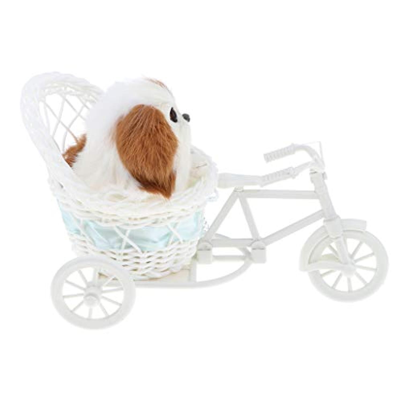Fenteer コレクション 三輪車 犬 猫 ウサギ模型 フィギュア プラスチック製 6色選択 - 犬