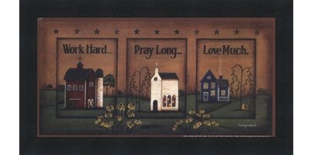分解する収穫パステル作業ハード、祈って、ロング、Love Much by Tonya Crawford – 10 x 5インチ – アートプリントポスター LE_613747-F101-10x5