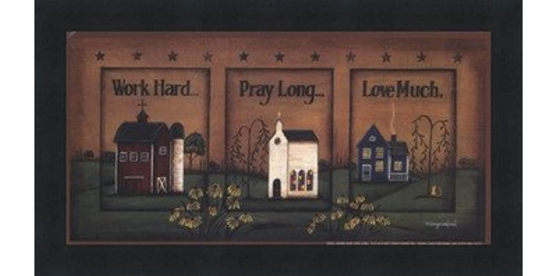 ネット不平を言う反射作業ハード、祈って、ロング、Love Much by Tonya Crawford – 10 x 5インチ – アートプリントポスター LE_613747-F101-10x5