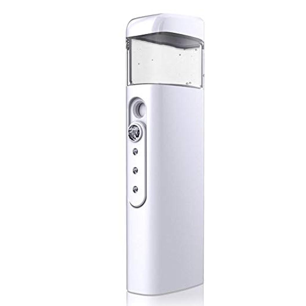 中級今後識別する30ml視覚水Makeが付いている携帯用顔の保湿のスプレーヤー、スキンケア、構造、まつげ延長、旅行のための保湿及び水和 (Color : White)