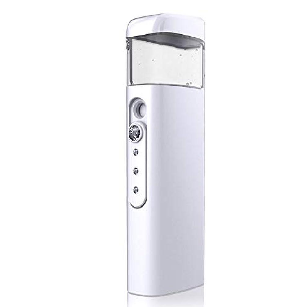 アリ決定するモーター30ml視覚水Makeが付いている携帯用顔の保湿のスプレーヤー、スキンケア、構造、まつげ延長、旅行のための保湿及び水和 (Color : White)
