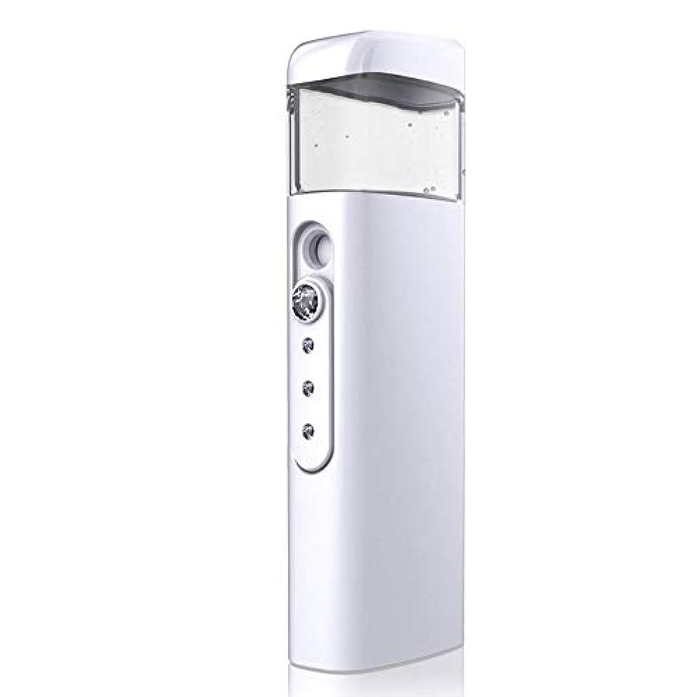 平等立ち寄る調和30ml視覚水Makeが付いている携帯用顔の保湿のスプレーヤー、スキンケア、構造、まつげ延長、旅行のための保湿及び水和 (Color : White)