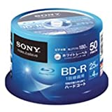 SONY ビデオ用BD-R 1回録画用 片面1層25GB 4倍速 ホワイトプリンタブル 50枚スピンドル 50BNR1VGPP4