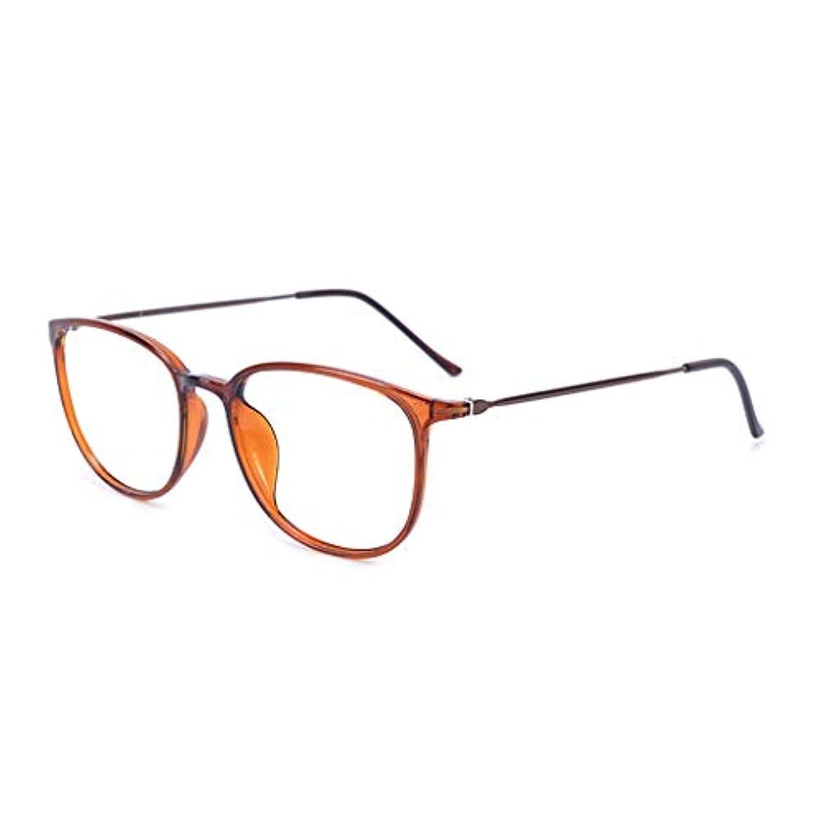 憎しみ亜熱帯ローラーLCSHAN エレガントなアンチブルー老眼鏡レディースファッション超軽量HD快適な抗疲労 (Color : Brown, Size : 150 degrees)