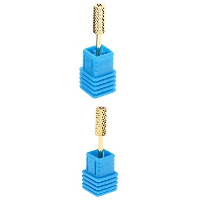 割り込みスカルク日没T TOOYFUL マニキュア研削ヘッド ネイル道具 アクリルネイル用ツール ネイルケア ネイルサロン用 2個セット