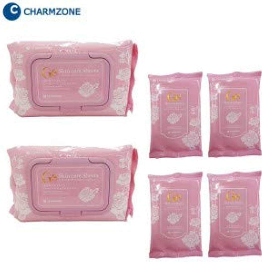 礼儀顔料挽く韓国コスメ チャームゾーン Ge スキンケアシート ローズパーフェクトモイスト 160枚(1包60枚×2個、1包10枚×4個)セット RPM160