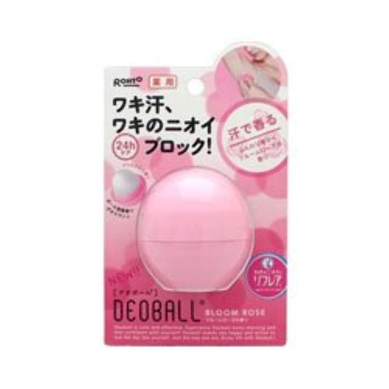 間不完全特許【ロート製薬】デオボール ブルームローズの香り(ピンク) 15g(医薬部以外品) ×3個セット