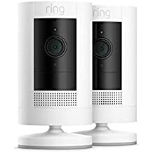 All-new Ring Stick Up Cam Battery | HD security camera with Two-Way Talk, white, Works with Alexa – 2 Pack