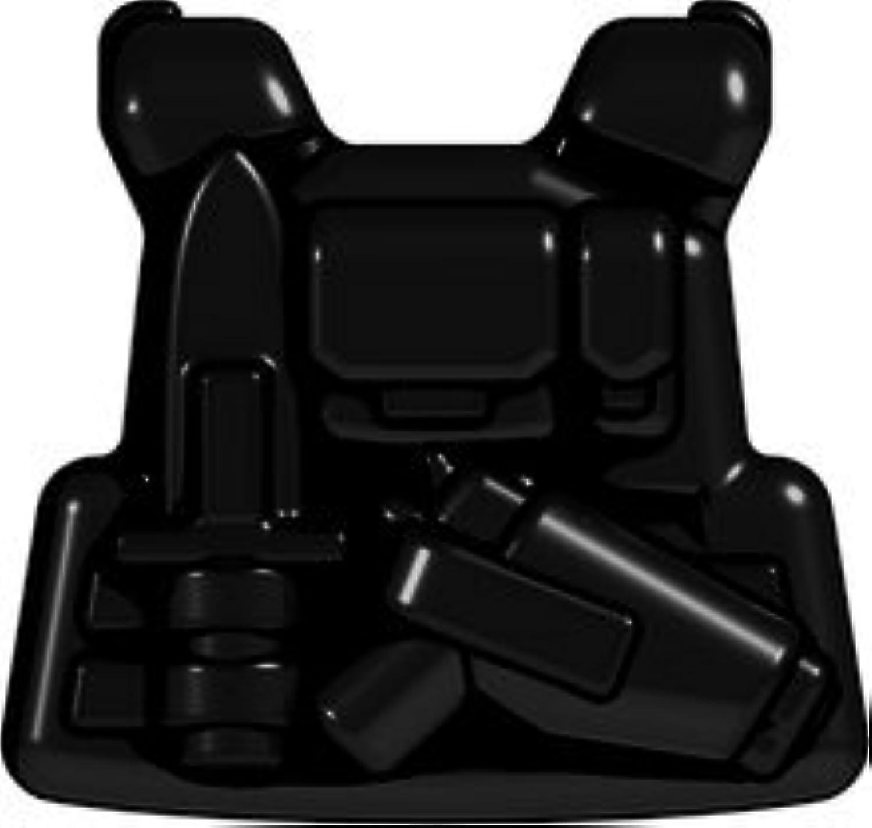 PCVポリカーボネートベスト:コマンドー (ブラック) LEGOカスタムパーツ アーミー 装備品 武器