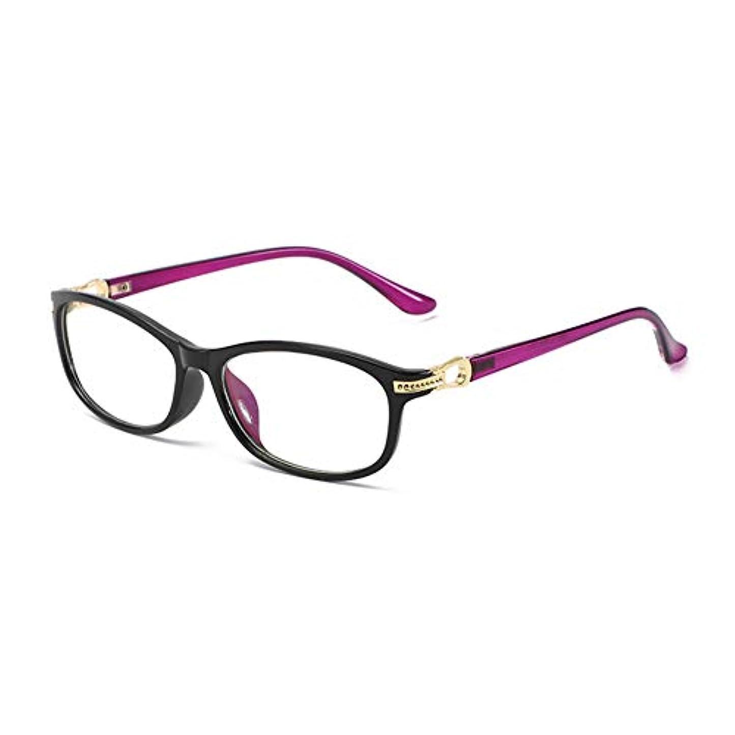 女性の老眼鏡 アンチブルーライト ブロッキングUV トランスペアレント PCレンズ 超軽量 レディース ファッション + 1.0 / + 1.5 / + 2.0 / + 2.5 / + 3.0 視度 力 赤 黒