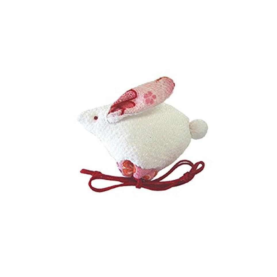 材料篭時代匂袋 十二支巾着 卯(うさぎ)