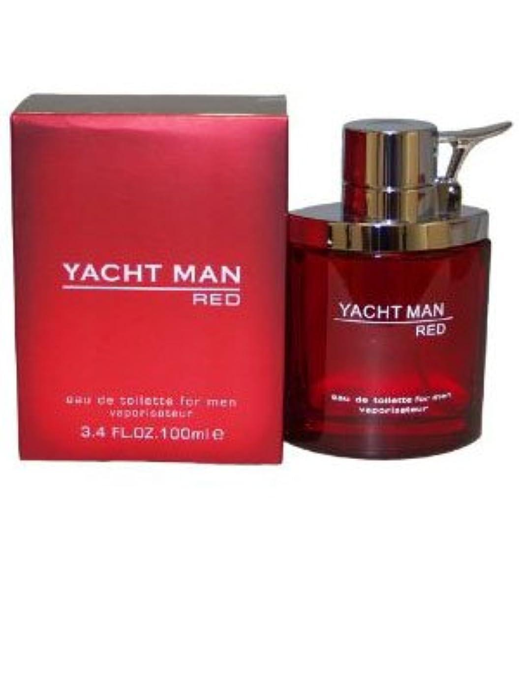 精神医学脅迫レタッチYacht Man Red (ヨット マン レッド) 3.4 oz (100ml) EDT Spray by Myrurgia