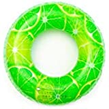 TYZP 子グリーン救命浮輪育ったポータブル水泳リングインフレータブルマウント厚みの大きいフローティングリング座ってサークル水泳機器 (Size : 90)