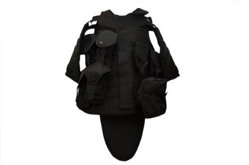 【silent tactics】 OTV タクティカルベスト インターセプター ボディアーマー ベスト レプリカ ブラック 黒