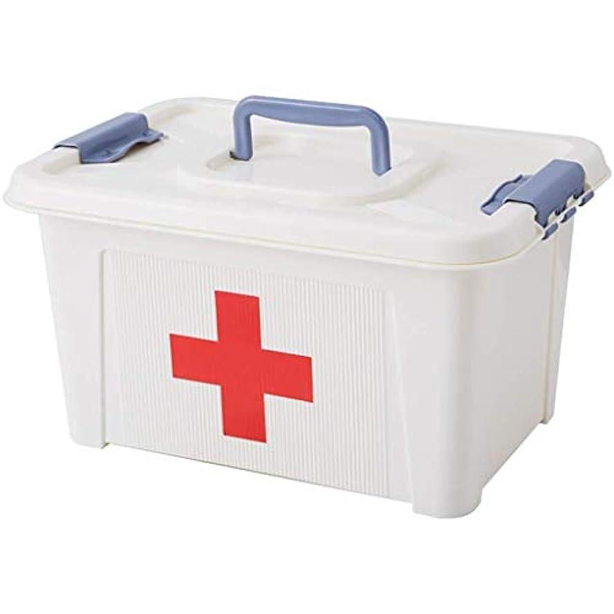 買収遷移深いDjyyh 薬箱、二重層の救急箱、家のための携帯用収納箱、旅行、キャンプ、オフィスおよび職場 (Size : 22*17*13.3cm)