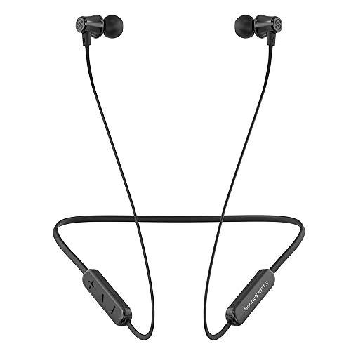 SoundPEATS Bluetoothイヤホン ネックバンド型8時間連続再生 IPX5 密閉型 高音質 [メーカー1年保証] 低音重視 マグネット搭載 マイク付き ハンズフリー通話 ワイヤレスイヤホン Q31 (ブラック)
