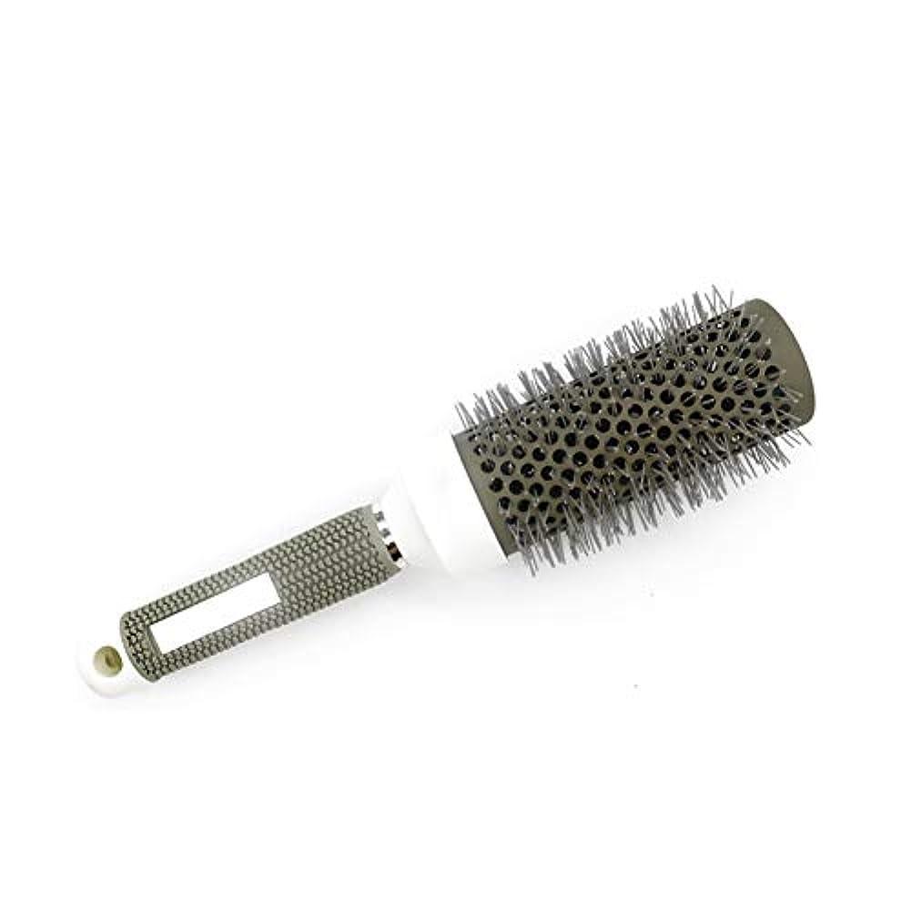 に対処する休眠メール丸いブラシ毛の櫛セラミック円筒アルミニウムローラーチューブ45ミリメートル美容ヘアドライヤー