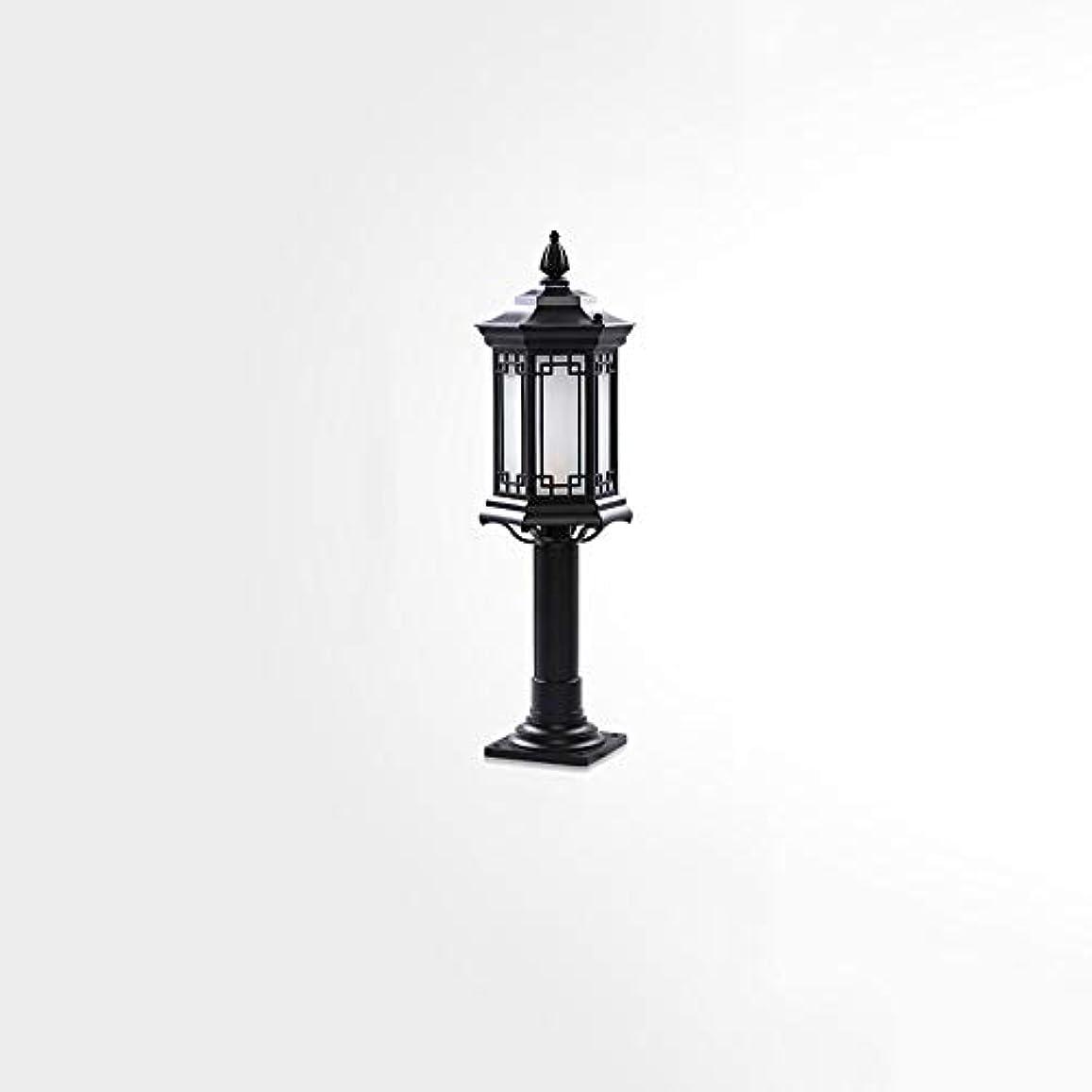 についてトレーニング掃くPinjeer E27高さ73センチヴィンテージ屋外防水ガラスポストライト超明るいレトロ工業アルミ柱ランプ風景ガーデンストリートヴィラホーム装飾コラムライト