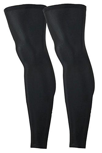 (AFROMARKET) レッグカバー UVカット スポーツ 日焼け防止 ラッシュガード レッグスリーブ 冷感 両足用 (2枚セット)