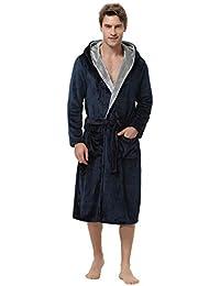 アイボレオ(Aibrou)バスローブ ルームウェア パジャマ サンゴパイル素材 ふわふわ 暖か 男女兼用 カップル 厚手 ロング丈 腰ベルト付き 多色4サイズ