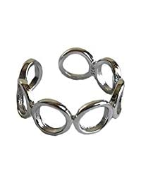 Niome Hollow Out Circle Finger Ring Open Adjustable Ring Simple Eternity Ring