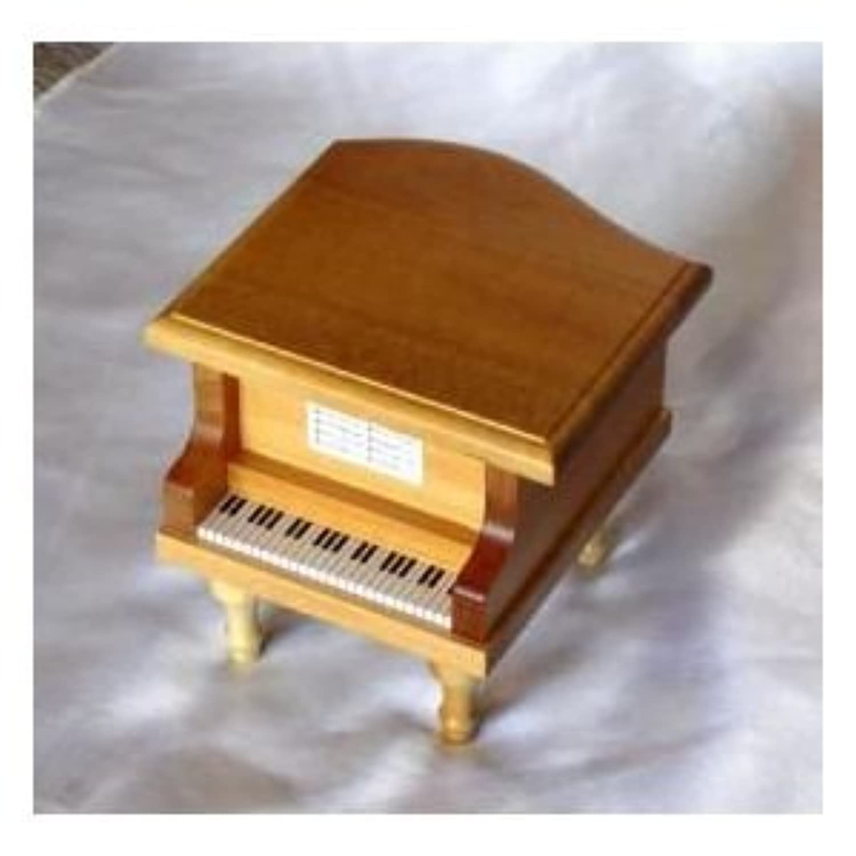 お好きな曲で1台づつ手作り製作します!ピアノオルゴール(ライトブラウン)