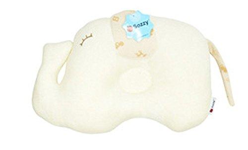 Walant ベビーピロー 可愛い象柄 寝返り防止クッション 吐き戻し防止 ベビー枕 ドーナツ枕 (ぞう)