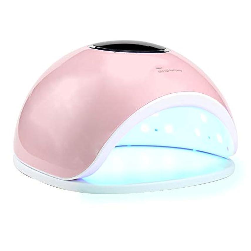 折独立したネズミネイルドライヤーポータブルネイルライト - ネイル光線療法機33ランプビーズ液晶ディスプレイ無痛モード4タイミング,Pink