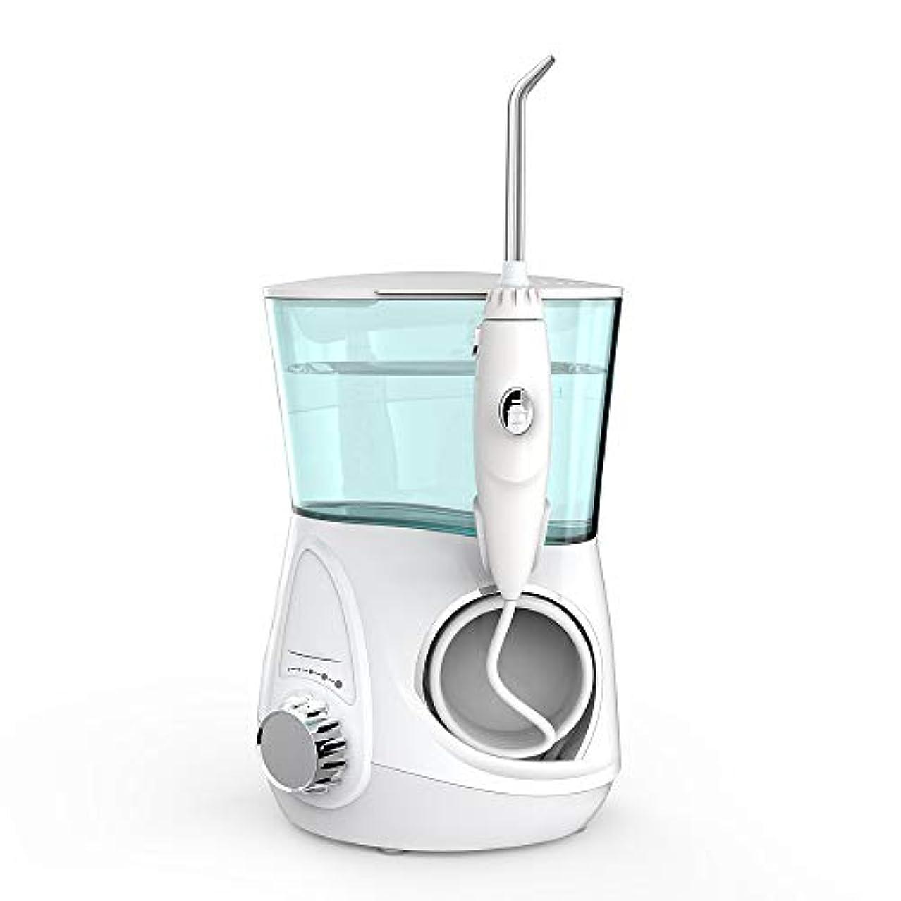寂しいでる力学水フロッサー口腔洗浄器、電気家庭用洗濯機ウォーターフロスケア充電式ウォーターピックジェット歯クリーニングで5ピースジェットti